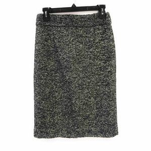 J Crew  Pencil Skirt Black Space Dye Lined  Back